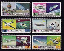 Jemen 1167-72** RAUMFAHRT SPACE FLUGZEUG CONCORDE APOLLO DOUGLAS YEMEN