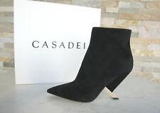 CASADEI Gr 39 Stiefeletten Ankle Boots Booties Schuhe schwarz neu ehem UVP 750 €