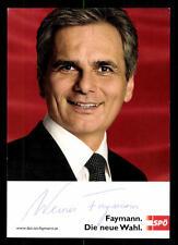 Faymann Autogrammkarte Original Signiert Politik+3803