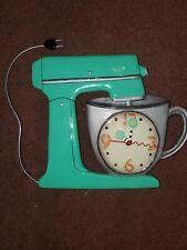 Allen Designs Wall Clock Vintage Mixer Bowl Green No Pendulum