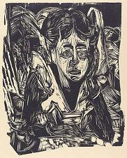 Ernst Kirchner Reproduction: Girl Dreaming - Fine Art Print