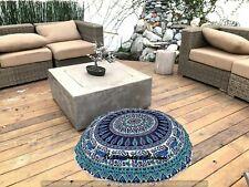 Large 32'' Boho Cotton Footstools Round Poufs Case Indian Throw Seating Cushion!