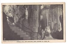 TITANIA'S VEIL SARACEN'S TENT Caverns of Luray Black/White Virginia Postcard VA