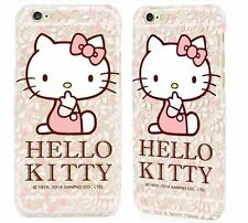 For iPhone 6+ / 6S+ Plus - TPU GUMMY RUBBER SKIN CASE COVER PINK HELLO KITTY