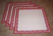 Frances Meyer 12x12 Single Sided Papers (4) ~ Red Bandana Border