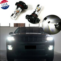 2x Xenon White 100W 5202 LED Daytime Running Light Bulbs For 2017up JEEP Compass