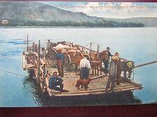 Postcard GRAND PRAIRIE, Alberta, Canada, 00-10's; Ferry Dunvegan Settlers