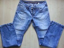 CAMP DAVID Premium NICK Denim-Blue-Jeans-Hose-Pants W33 L36 destroyed-faded-Look