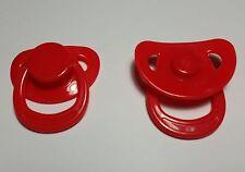 Sucette magnétique rouge avec aimant incorporé pour Reborn