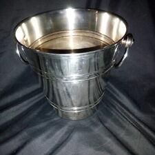 Seau à champagne, rafraîchissoir à bouteilles en métal argenté, deux anses.