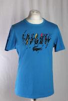 Lacoste Sport T-Shirt Ultra Dry Rare Big Logo Blue Black Men's Size 5 Large!