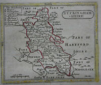Original antique county map of BUCKINGHAMSHIRE, Seller / Grose c.1780