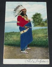 CPA POSTCARD USA 1907 PEAU-ROUGE INDIEN SOIE ROUGE ET BLEUE FAR WEST