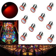 10x #1893 #44 #47 #1847 BA9S 1 SMD LED Pinball Machine Light Bulb Red 6.3V USA