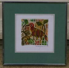Peinture sur soie 1993 soierie d'art Oiseaux signature?