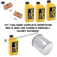 KIT TAGLIANDO HARLEY DAVIDSON SPORTSTER 883 E 1200 OLIO FILTRO CANDELE ORIGINAL