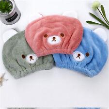 Animal Hair Microfibre Quick Dry Drying Towel Hat Cap Turban Kids Bath Shower KS