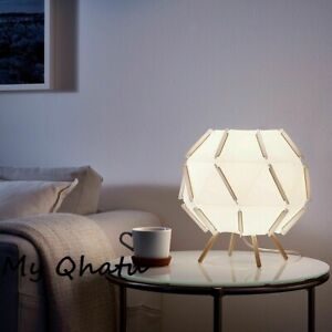 IKEA SJOPENNA Table Lamp Modern White 12x11 With LED BULB  New