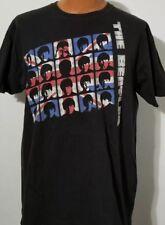The Beatles UK Flag Collage Large Black T-shirt