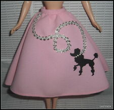 TOP BARBIE DOLL NIFTY 50s BLACK CARDIGAN SWEATER WITH CHAIN CLOTHING ACCESSORY