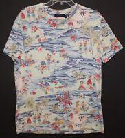 Polo Ralph Lauren Mens Green Island Luau Tropical Cotton T-Shirt NWT Size L