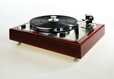 Restaurierter Thorens TD165 Plattenspieler Kirschholz - mahagoni eingefärbt