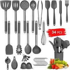 34 Pcs Silicone Cooking Utensil Set, Upgrade Kitchen Utensils Set, Kitchen Tools