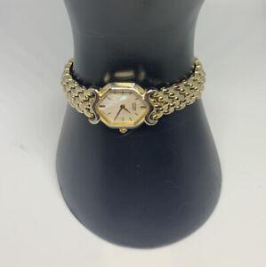 Vintage CITIZEN Gold Tone Bracelet Women's Watch Mother of Pearl Japan Mvmt