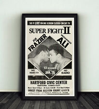 Muhammad Ali Joe Frazier Superfight II Clay Boxing RIP 11x17 Poster Print