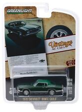 1:64 GreenLight *VINTAGE AD CARS 2* Green 1970 Chevrolet Monte Carlo *NIP*