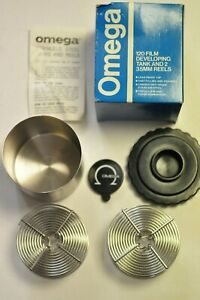 Omega Stainless steel film developing tank and 2-35mm reels. #6