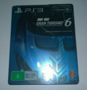 SONY PLAYSTATION 3 PS3  GRAN TURISMO 6   STEELBOOK  FREE POSTAGE