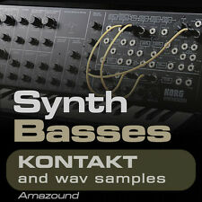 300+ SYNTH BASSES SAMPLES for KONTAKT NKI + WAV HIP HOP TRAP RAP EDM MAC PC MPC
