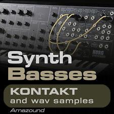 300+ SYNTH BASSES SAMPLES for KONTAKT NKI + WAV HIP HOP TRAP RAP EDM MAC PC MPC