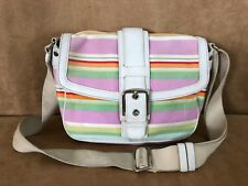 COACH Hampton striped convertible Multicolor Signature purse F10707 Tote Bag