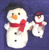 SNOWBALL the Snowman Ty Beanie Baby -w/ RARE PVC Pellets + Snowball Buddy - MWMT