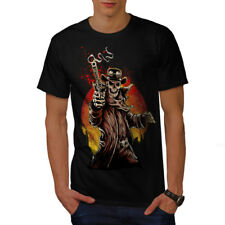 Wellcoda Western Cowboy Cool Skull Mens T-shirt, Gun Graphic Design Printed Tee