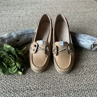 Sperry Women's Loafers US 6.5 Slip-on Boat Shoes Coil Ivy Tan LEATHER