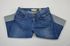C7P Chip and Pepper Production Junior Womens Cropped Capri Blue Jeans size 11