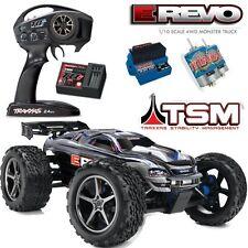 Traxxas 56036-4 1/10 E-Revo Monster Truck 4WD w/ TSM / Radio / Waterproof Silver