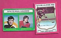 2 X 1973-74 OPC  BOSTON BRUINS PHIL ESPOSITO  CARD (INV# C4576)