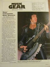 Gene Simmons, Kiss, Full Page Vintage Clipping