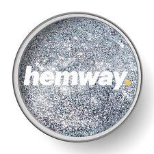 Hemway Silver 1L Clear Glitter Paint Glaze for Pre-Painted Walls DIY UK