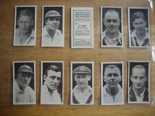 Cigarette Card Set (40) Australian and English Cricketers 1928 Major Drapkin
