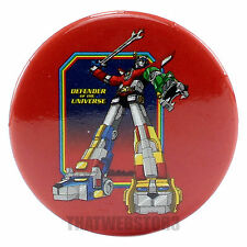"Voltron Defender of the Universe Attack 1.25"" Button ~ Officially Licensed ~ NEW"