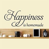 Happiness is homemade - Wall Art Decal Vinyl Sticker