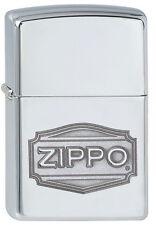 Zippo Feuerzeug DEPOT ZIPPO LOGO High Polished Chrome NEU OVP