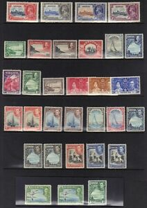 BERMUDA 1935-38 K. GEORGE V & VI ISSUES SG 94-115 INC. COLOR VARIETIES UNCHECKED