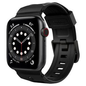 Apple Watch 7 6 SE 5 4 3 2 1  | Spigen Rugged Band Matte Black Watch Band