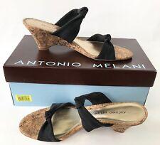 New Ladies Shoes, Antonio Melani, Riviera 202, 8M, Brown, Fabric/Leather, Brazil